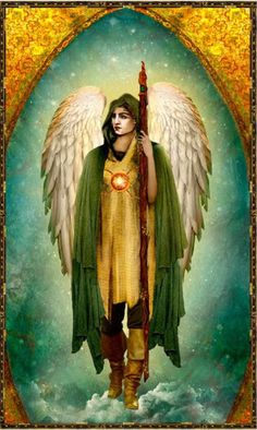 Arch Angel Raphael- Angel of health-green is for liver disease, I think he brings comfort to sick patients