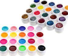 40 Mischen Farben Nagelkunst UV Gel Set Solide
