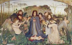 "Mark Lancelot Symons (British, 1887-1935), ""Madonna and Child with Angels"", 1925 