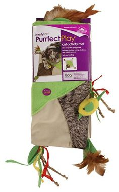 SmartyKat Purrfect Play Cat Toy Activity Mat with Catnip, Feathers and Crinkle Sounds SmartyKat http://www.amazon.com/dp/B00H3486KM/ref=cm_sw_r_pi_dp_R-cLwb0WZQ4G4