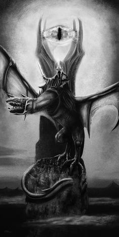 """Lord of the Rings - Chris Skinner - ''Lord of the Nazgul'' ---- Art featured in Hero Complex Gallery's """"Imagined Worlds 2"""" -- tribute to Spielberg, Jackson, Nolan, Carpenter, and Cameron (2014-10)"""