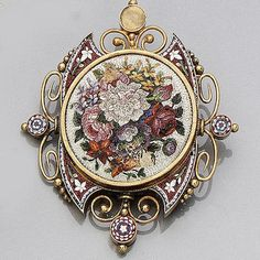 A Late Victorian Micro Mosaic Brooch