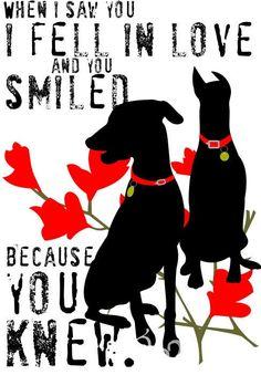 Custom quotes with dog pics #dobermans