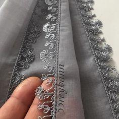 # Namazörtü of Umeda Cross Stitch Embroidery, Hand Embroidery, Embroidery Designs, Crochet Borders, Filet Crochet, Baby Knitting Patterns, Crochet Patterns, Crochet Unique, Knit Shoes