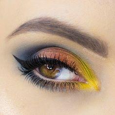 Makeup Geek Eyeshadows in Lemon Drop, Peacock, Pixie Dust and Roulette. Look by: trustmyself
