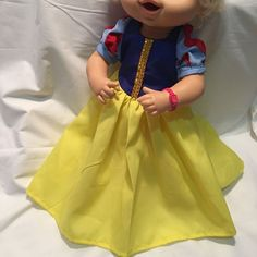 """Fits 15"""" 16"""" Baby Alive Doll Clothes Princess Snow White Costume Dress (NO DOLL) #Fits1516BabyAliveDoll #ClothingAccessories"""