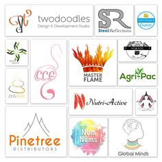 Showcasing some of our logo designs
