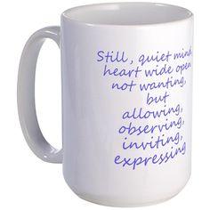 Still, Quiet Mind Large Coffee Mug by Margaret Missman