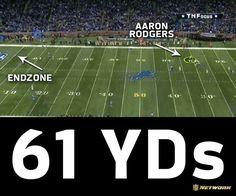 61 yards yes 61 yard Hail Mary