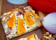 Kürbisflammkuchen – Very (iss)ima Feta, Camembert Cheese, Dairy, Food Food, Simple, Recipies, Autumn