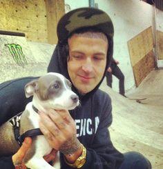 Yelawolf & pup. So adorable.
