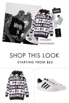 """Come here babygirl we want to play"" by chttanikko ❤ liked on Polyvore featuring adidas"