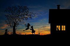 어린이, 놀이, 록, 레저, 밖에 서 재생, 스윙, 정원, 홈
