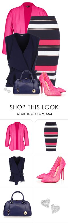 """pink shoes"" by divacrafts ❤ liked on Polyvore featuring City Chic, Oasis, Mantù, Christian Louboutin, Furla, Vivienne Westwood and Original"