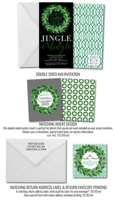 Christmas Wreath, Christmas cocktail party invites via Party Box Design Christmas Cocktail Party, Christmas Cocktails, Holiday Parties, Cocktail Party Invitation, Christmas Party Invitations, Office Parties, Party In A Box, Box Design, Special Events