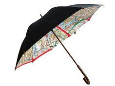 Iconic Melbourne directions map umbrella