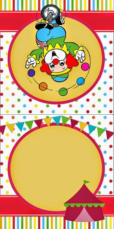 The Circus Free Printable Invitations and Candy Bar Labels.