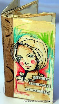 The Kathryn Wheel: Tiny art journaling ...Stamps by Dina Wakley