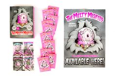 The Melty Misfits: a set of trading cards created by artist Buff Monster and produced by Sidekick Labs. (7 sticker cards per pack) available @ #JuDeLovesYou