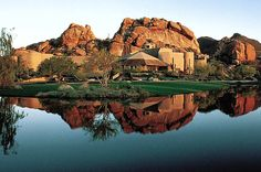 The Boulders, A Waldorf Astoria Resort 34631 N. Tom Darlington Drive , Carefree, AZ 85377, USA |Tel: 1-480-488-9009  Arizona's extraordinary Sonoran Desert surrounds The Boulders, a luxurious natural retreat offering championship golf courses, tennis gardens and sparkling pools. Be enchanted by adobe casitas, innovative cuisine and the world-renowned Waldorf Astoria Spa at The Boulders Resort.