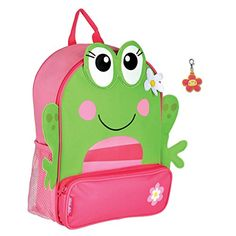 Stephen Joseph Sidekick Girl Frog Backpack with Zipper Pull  Cute Kids Backpacks -- Be sure to check out this awesome product. Note:It is Affiliate Link to Amazon.