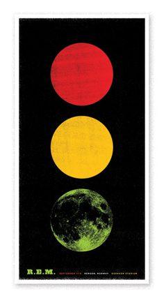 R.E.M gig poster #design