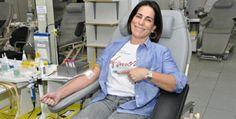 Gloria Pires visita pacientes do Hemorio e incentiva doação de sangueA atriz fez doação de sangue e conversou com pacientes