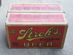 Stroh's Beer  remember a cat trunk full of cases when we traveled to Alpena for a week at Long Lake. great memories...too young to drink the beer, but it kept the adults out of our hair