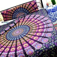 Boho Paradise Queen Duvet Cover With Pillow Set bedding Decor