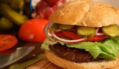 Vegan Lentil Burgers with the Works by Chef Michael Smith   Lentils.ca