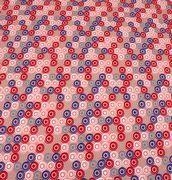 Gammelrosa jersey med cirkler - oeko tex 100