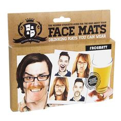 Gentlemans Club Face Coaster Set of 20 Double sided Drink Coasters. Set of 20 double-sided hilarious coasters. Simply clip on to your nose to change your appearance. 40 different images. Face Coasters, Drink Coasters, Gentlemans Club, Funny Faces, A Funny, Hilarious Memes, Goofy Face, Beer Mats, Man About Town