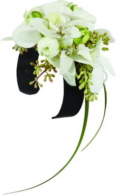 Black and White Glamour Prom Corsage Floral Arrangement for Prom