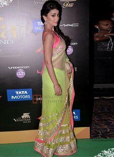Tempting Green Sequins Work Designer Saree