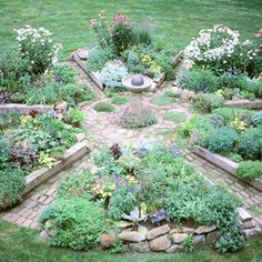 """Radiating"" raised bed design"