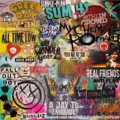 I got this from Twitter. Can't remember from who, though. But, this is just a picture of some of the bands I like.