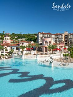 Beautiful Mediterranean village at #SandalsGrandeAntigua