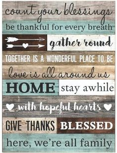 Count Your Blessings Wall Art The Knowing, Wooden Barn, Pallet Art, Shower Curtain Sets, Wall Organization, Wooden Signs, Wood Art, Decoration, Wood Crafts