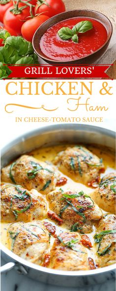 Grill Lovers' Amazing Chicken and Ham in Cheese-Tomato Sauce Recipe ...