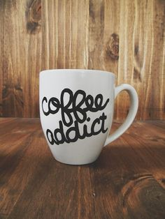 Coffee Addict ceramic mug birthday present by ParrisChicBoutique, $13.00