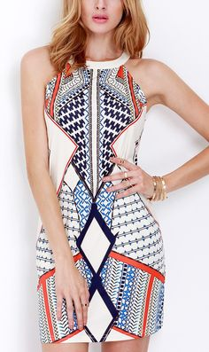 Multicolor, Sleeveless, & Geometric. Yes, please.