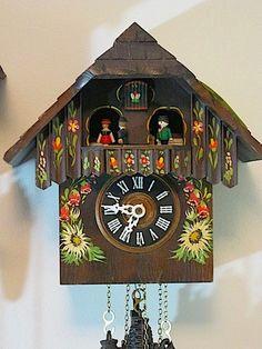 1950's German Black Forest Chalet Cuckoo Clock w Swiss Movement W | eBay