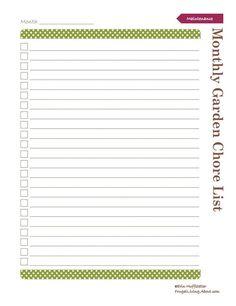 Print This Free Garden Planner: Monthly Garden Chore List Printable