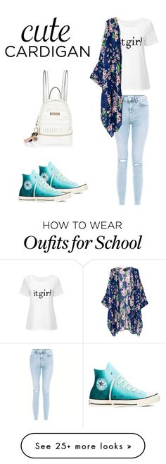 """School is not over yet "" by biafangirl on Polyvore featuring New Look, Converse, River Island, cutecardigan and springlayers"