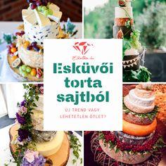 Esküvői torta sajtból: Láttunk már – sőt írtunk is – a különböző torta típusokról, díszítésekről, melyekből már most nehéz választani, de ennyire különleges megoldást esküvői tortára még nem igazán láttunk!   Sajtból készült esküvői torta? Ki hallott már ilyet?! Latte, Table Decorations, Dinner Table Decorations