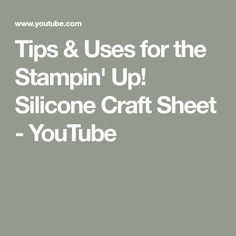 Join me, Canadian Stampin' Up! Demonstrator Allison Okamitsu, for a few tips on using the Silicone Craft Sheet. Card Making Tips, Card Making Tutorials, Card Making Techniques, Making Ideas, Making Tools, Art Techniques, Rubber Stamping Techniques, Embossing Techniques, Craft Paper Storage