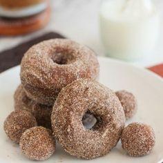 Cinnamon-Sugar Gingerbread Doughnuts