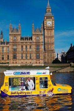 floating ice cream truck