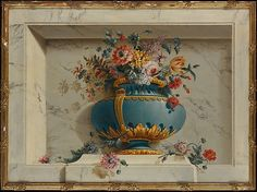 Attributed to Michel Bruno Bellengé (French, 1726–1793). Vase of Flowers in a Niche.The Metropolitan Museum of Art, New York. Gift of J. Pierpont Morgan, 1906 (07.225.461) #spring