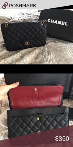 Black leather handbag Black leather handbag. Comes with box and dust bag. Brand new conditions. Was giving as a gift. Bags Shoulder Bags